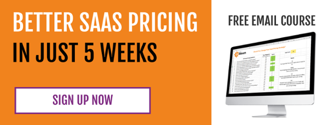 free email course: 5 weeks to better saas pricing